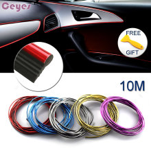 10M Auto Car-Styling DIY Car Decoration Sticker Case For Alfa Audi Mazda Nissan Saab Toyota Volve Lexus Car Styling Accessories(China)