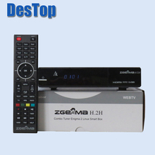 3pcs/lot Satellite tv receiver HD ZGEMMA H.2H Combo DVB S2 + DVB T2/C with dual core CPU running with USB WIFI