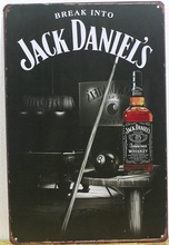 Free shipping 1pc Daniel's Whiskey Jack snooker Tin plate commercial tinSign Bar Pub wall Club Decoration JD Retro Metal Poster