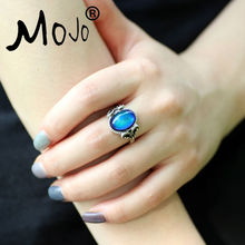 Mojo Vintage Retro Color Change Mood Ring Feeling Changeable Fashion Ring Temperature Control Ring for Women MJ-RS008(China)
