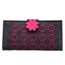 2087 Women New Fashion Long Hasp Wallet Cute Purse for Juniors Flower Pattern Design Magnetic Snap Closure Credit Store
