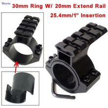 "MIZUGIWA Scope Barrel Mount 1""/ 25.4mm 30mm Ring Adapter 20mm Weaver Picatinny Rail Rifle Pistol Airsoft Gun Base Install Pistol"