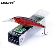 New Arrival LINGYUE Jerkbait Professional Artifiaial Bait 10cm 11g Fishing Lure 1 pcs Slow Sink Wobbler With Retail Box Minnow(China)