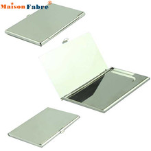NEW Credit Card Holder Silver Business Card Holder - Flip Style - Metal Business Card Holder Cover #0323