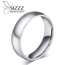 SIZZZ 6 mm/8mm wide pure tungsten rings classic wedding rings for women and men jewelry wholesale ring