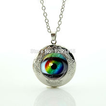 2017 Real Collier Collares Frost Dragon Eye Pendant Leisure Series Essential Souvenirs Gift Eyeball Jewelry Evil Locket N 852(China)