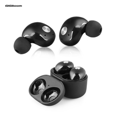 GiGiboom Twins Dual Stereo Bluetooth Earphones Mini Bluetooth 4.2 Headset Wireless Handsfree Double Earbuds Charge Box