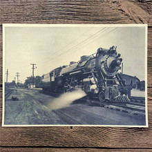 "RMT-005 vintage home decor poster kraft paper ""Small steam train"" painting for wall pictures living room house cafe bar 42x30 cm"