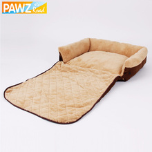 PAWZ Road 3 Ways Use Pet Bed Dog Sofa Warm Dog Bed Cat Cushion Puppy Mat High Quality Dog House Kennel Chihuahua Animals(China)