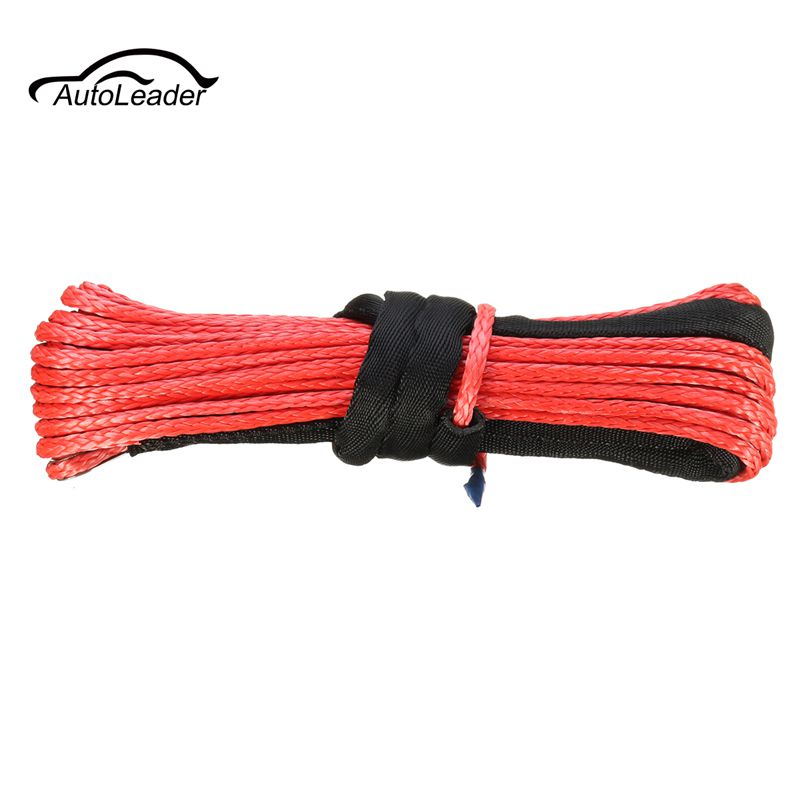 4.8mm x 15m 5500LBs Red Towing Ropes Auto ATV Vehicle Synthetic Fiber Winch Rope Cable Car Replacement(China)