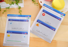 New Arrival Windows System Notice Sticky Notes Memo Pad  N Times Self-Adhesive  Post It Bookmark School Office Supply
