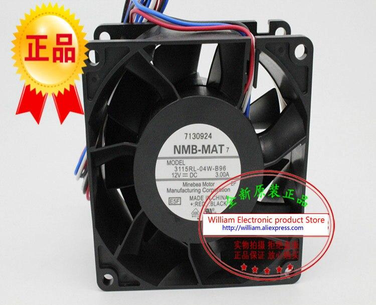 New Original NMB 3115RL-04W-B96 DC12V 3A 80*80*38MM 8CM large wind speed PWM control cooling fan<br>