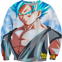 Japan classic Anime Dragon Ball Z Sweatshirt Long Sleeve Outerwear Men 3D pullovers Super Saiyan Goku Crewneck jumper