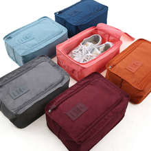 Portable Waterproof Shoes Bag Organizer Storage Pouch Pocket Packing Cubes Handle Nylon Zipper Bag for Travel