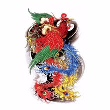 3D Traditional Oriental Phoenix Tattoos Beauty Sexy Waterproof Temporary Tattoo Stickers Makeup Body Art Wholesale(China)