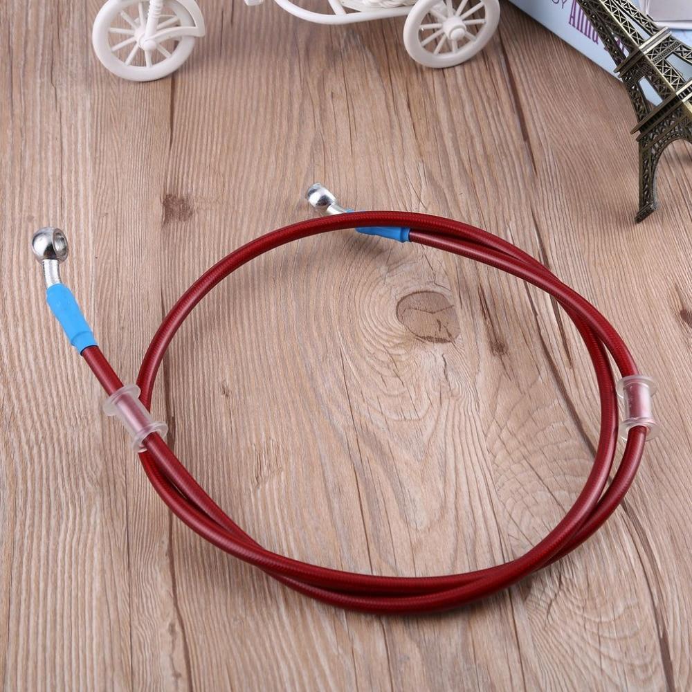 90cm Moto Line Pipe Tubo Olio Frizione Freno in Acciaio Intrecciato Rosso