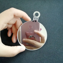 20pcs 80mm Clear Blank Mirror Acrylic Christmas Ball Ornaments Tree Decoration Baubles Key Chains Cutout Christmas Hanging Tags(China)