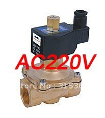 Free Shipping 5PCS 3/4 Normally Open Water Solenoid Brass Valve Model 2W200-20-NO AC220V<br><br>Aliexpress