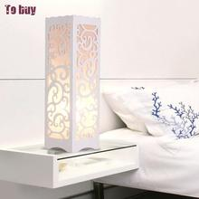 White  Modern Table Lamp Tafellamp Table Lamps For Living Room  Wedding Decoration Tiffanylampe Wood Lamps