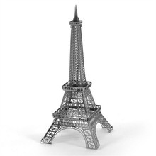 Construction Famous Buildings Over The World 3D Metal Model Puzzles EIFFEL TOWER Chinese Metal Earth Stainless Steel