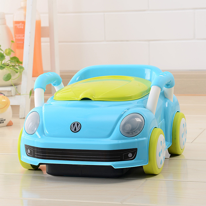 2017 Brand Cute Beetle Car Style Baby Potty Trainer Plastic Kids Toilet Travel Potty Chair Free Shipping Urinary Potty Boy Girl05