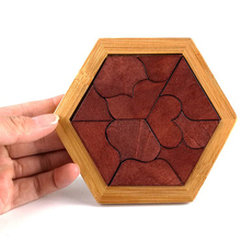 Hot Sale Baby Wood Puzzle Jigsaw Heart Wooden Toys For Infant Playing Early Intelligence Clever Board Puzzle Perceptivity Shape