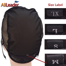 Professional Label Size XL/L/M/S Wig Base Cap Glueless Wig Cap Swiss Lace For Wig Making 5Pcs/Lot Weaving Net Mesh Caps For Wigs