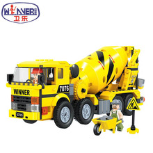 Educational Toy Model Bricks Engineering Series Cement mixer Building Blocks City Construction Blocks Toy for Children Boys Gift