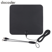 Indoor Digital TV Antenna USB Power Supply 50 Mile Range with 5M Coax Cable Signal Booster Amplifier High Reception HDTV(China)