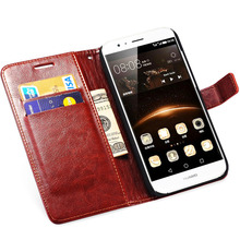 Flip Wallet PU Leather Case For Huawei G7 Business Style Stand Design Phone Bag Cover For Huawei G7 Cases Black Brown