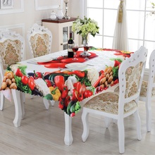 2016 New Rectangular Tablecloths Fruit Pattern High Quality Practical Household Goods Table Cloth  Acceptable Custom ZS-7