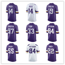 Men's Minnesota Custom game vikings Sam Bradford cook randy moss Stefon Diggs Teddy Bridgewater Anthony Barr Adam Thielen jersey(China)