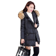 2017 new autumn and winter in the long hair collar A down cotton cotton padded jacket womens' special offer wholesale