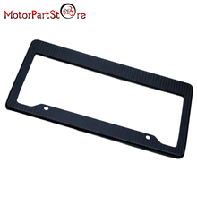 Real Carbon Fiber Type License Plate Frame Tag Cover Original 3K Twill