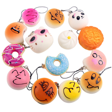 18pcs/Lot Squishy cat Soft different styles for Phone Decor Kawaii Cute Strap Kid Present Bag Accessories &Ornament(China)