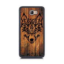 Durable Smart Phone Case for Samsung Galaxy J5 J7 Prime J3 J5 J7 2016 Wolf Head Wood Painting Soft TPU & Hard PC Back Cover