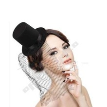 Fashion Veil Hat Hair Clip Women Girls Floral Mini Top Hat Fascinator Fancy Dress Party Hair Accessories