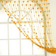 Fashion Romantic Heart Shape Line Curtain for Partition Wall Vestibule Door Curtain(China)
