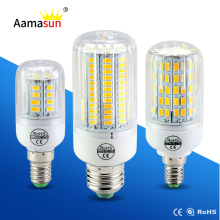 E27 E14 LED Lamp 5730 SMD LED Corn Bulb 220V 24 30 42 64 80 89 108 136 Leds Focos Luz Led Bombillas Light Bulbs Ampoule Lighting
