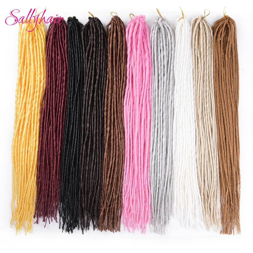 Dreadlocks Fauc LocsSenegaless Twist Braids Crochet Braids Synthetic Hair Extensions Senegal Braiding hair (13)
