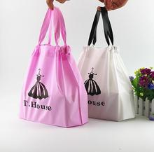 240pcs Bunched plastic portable shopping bags,Boutique Clothes Gift Packaging Pouches big size Package Handle Bags