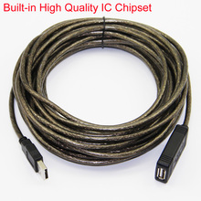 10m 33ft USB 2.0 Active Repeater USB2.0 Extension Cable Male to Female Built-in TaiWan IC Chipset For USB WIFI Adapter USB Modem(China)