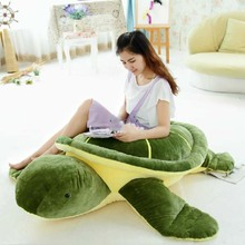 New Huge 59'' / 150cm Huge Stuffed Soft Plush Giant Animal Turtle Tortoise Toy, Nice Gift, Free Shipping