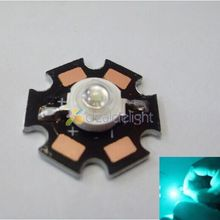 10PCS 3W High Power Cyan 490nm LED Emitter Bead 70lm 3.2-3.4V with 20mm star pcb