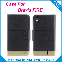 5 Colors Super! Bravis FIRE Case Fashion Business Magnetic clasp High quality Flip Leather Exclusive Case For Bravis FIRE Cover