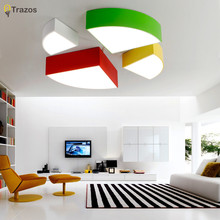 Modern Led Ceiling Lights White  Green red oranges AC85-265V Super-thin Ceiling Lamp Fixture Study Room Bedroom Kitchen