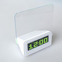 Message Board Clock Alarm Clock LED Electronic Clock Big Romantic Fluorescent Screen Lazy Mute Alarm Clock Digital Decor(China)