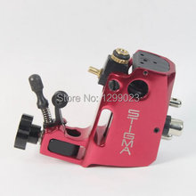 NHigh quality Professional Swiss Motor Stigma Bizarre Rotary Tattoo Machine Red Liner& Shader Top Free shipping