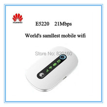 Unlocked Original 3g wifi wireless Router Huawei E5220 HSPA+ HSPA UMTS 2100Mhz PK E5331 E585 E586 E5832(China)
