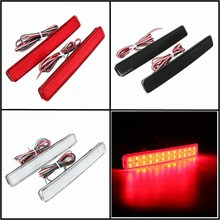 2x 24 LED Auto Rear Reflectors Bumper Tail Fog Lamp Brake Stop Night Running Lights Driving Reverse Light For VW/T5 Transporter(China)
